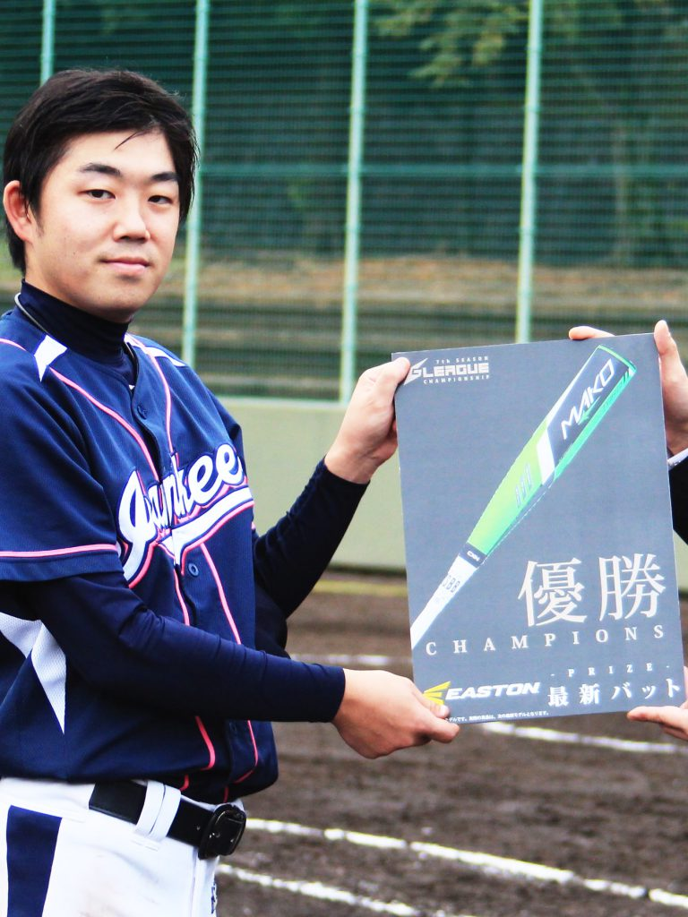 EASTON JAPANよりジャンキーズBへ今春以降発売予定の最新バットを贈呈
