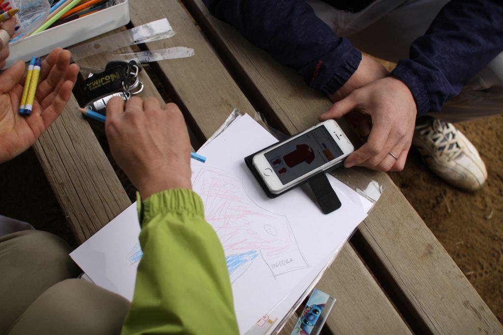 シミュレーターを参考にしながら、発表用のデザイン案を作ります。